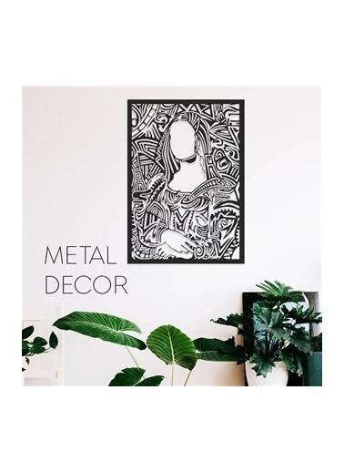 Baupor Mona Lisa Metal Duvar Dekoru Siyah